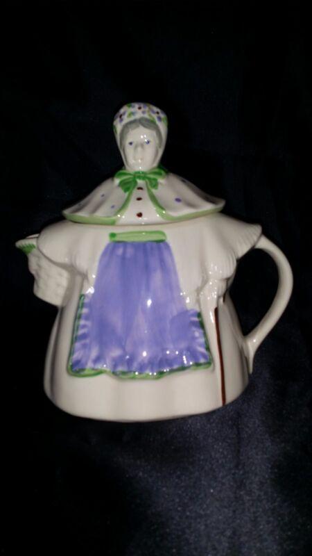 Vintage SHAWNEE Pottery Colorful GRANNY ANN Teapot Tea Coffee