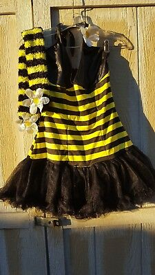 SexyBumble Bee Womans Costume Dress & Leg Warmers  M/L  By Leg Avenue  Preowned - Leg Avenue Bee Costume