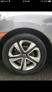Honda Civic 2018 tires/rims/caps 215/55R16 5x114.3