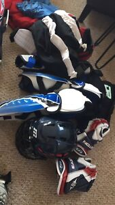 Ringette equipment comes with bag on wheels