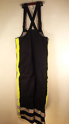 Nasco Flame Resistant blue Heavy Quilted Insulated Bib Overalls Relective Small Flame Resistant Insulated Bib