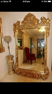 ITALIAN ANTIQUE LARGE MIRROR GOLD GREAT CONDITION