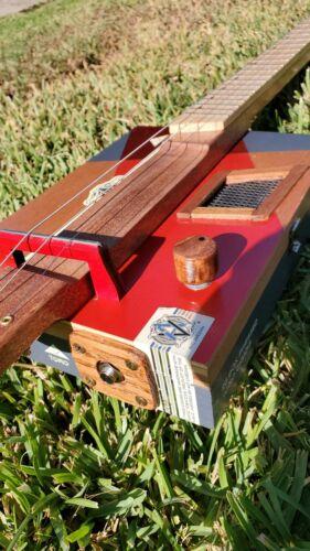 CIGAR BOX GUITAR 3 STRING ACOUSTIC / ELECTRIC
