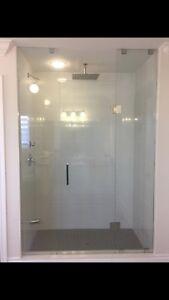 FRAMELESS SHOWER GLASS DOORS ENCLOSURES DECKS STAIR RAILINGS ETC
