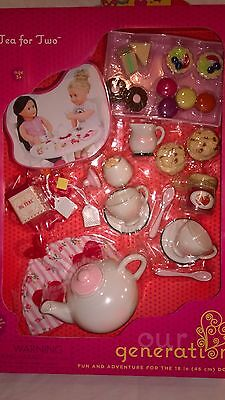 Our Generation Tea for Two Tea Party Set fits American Girl 18 Inch Doll Dolls
