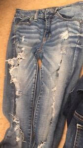 Size 2 American eagle jeans like new ANKLE STYLE