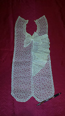 ANTIQUE LACE COLLAR AND DRESS FRONT VICTORIAN