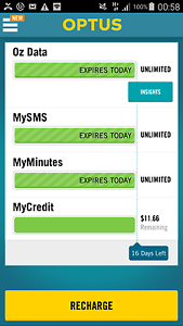 Optus Unlimited Mobile Data, Call & Text For $2 Not an iPhone Sydney City Inner Sydney Preview