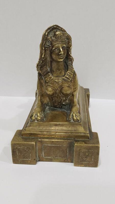 Rare Antique 19th Century Escalier De Cristal French Bronze Sphinx Sculpture