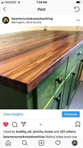 Custom made Butcher block counter tops