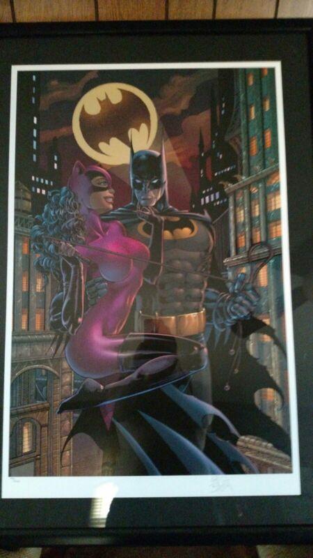 Warner Bros Studio Store Gallery Catwoman/Batman: Gotham By Night Lithograph