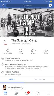 Strength Camp II @ AIS - DISCOUNTED PRICE