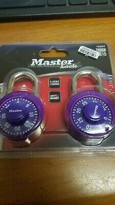 Master Lock 2-pack Dial Combination Lock 34 Metallic Purple Brand New