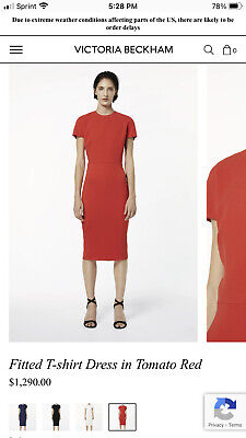 Victoria Beckham Fitted Dress In Red