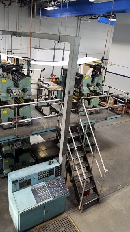 REDUCED AGAIN...MAKE OFFER 2 four-high newspaper web offset press towers DGM430