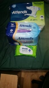 ADULT DIAPERS & WIPES