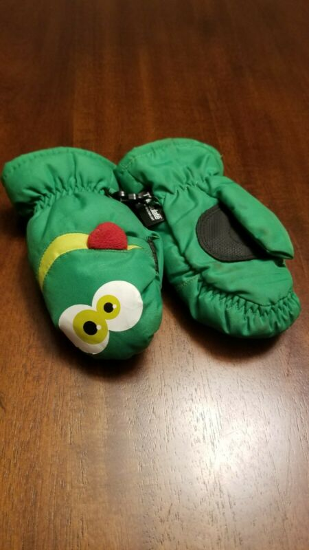 Green Toddler Mittens Size 2t-4t