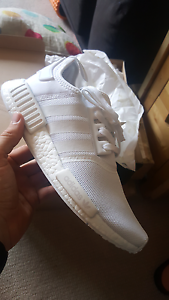Adidas NMD R1 Triple White, 9.5US, New In Box DS South Melbourne Port Phillip Preview