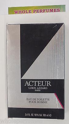 ACTEUR AZZARO MEN 3.3/ 3.4 OZ/100 ML EAU DE TOILETTE EDT SPLASH NEW IN BOX