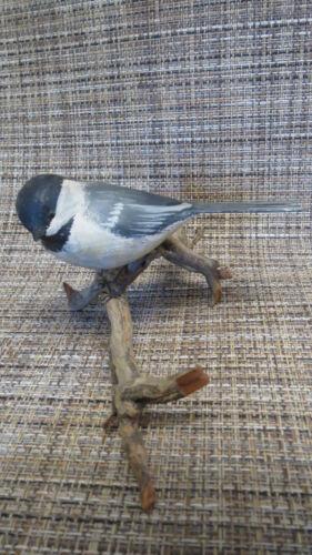 Vintage Peter Peltz Carved & Painted Wood Folk Art Song Bird