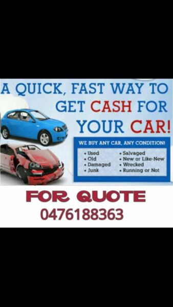 Cash for unwanted scrap cars removal