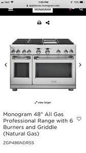 Unbelievable deal on this Monogram 48 inch gas range