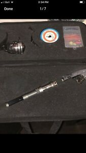 NEW Plusinno TM Spin Spinning telescopic Fishing Rod  with Reel