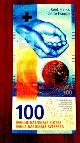 SWITZERLAND SWISS 100 FRANKEN FRANCS new gem UNC