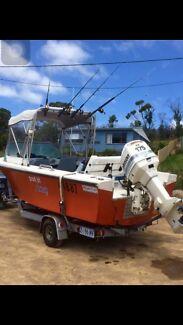 18 ft pleasure craft boat deep V