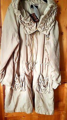 Großer Kragen Jacke (NEU Longjacke Grosser Kragen Beige GR 50 ALFREDO Pauly)