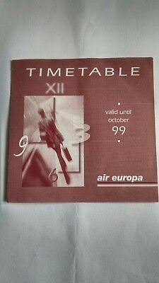 Air Europa LGW Timetable OCT 1999