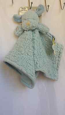 BLANKETS & BEYOND BLUE PUPPY DOG HOLDER BABY SECURITY LOVIE LOVEY NUNU~NWT