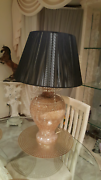 Porcelain side table lamp decorated with the crystals Greystanes Parramatta Area Preview
