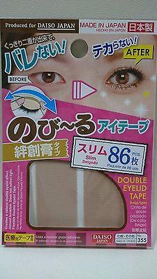 DAISO Japan Natural Double Eyelid Nudy Tape Slim 86pcs Bandage type F/S