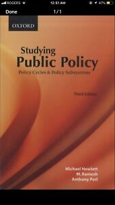 Studying Public Policy - Howlett