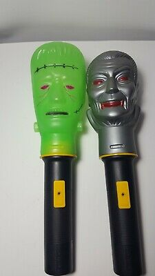 Frankenstein Dracula Flashlight Halloween Blow Mold