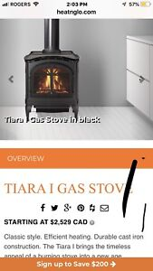 Gas fireplace stove for sail