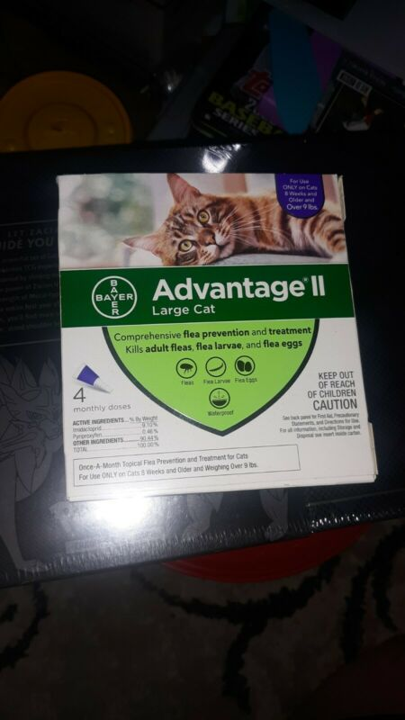 Advantage II for Large Cats over 9 Lbs - 4 Pack