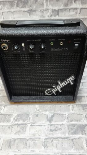 Black Small Solid Body Epiphone Electar 10 Guitar Amp WITH Power Supply - $25.00