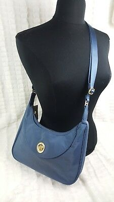 NEW NWT BAGGALLINI WOMEN BLUE OSLO SMALL HOBO NYLON BAGG TRAVEL  BAG PURSE segunda mano  Embacar hacia Argentina