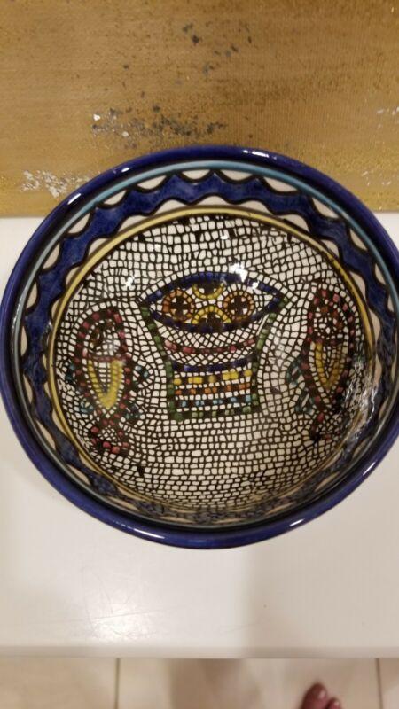 E. K Jerusalem Handmade Ceramic Bowl