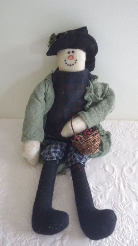 """Vintage Collection Snowman Christmas Decorative Doll Stuffed 20"""" Tall New Nwt"""