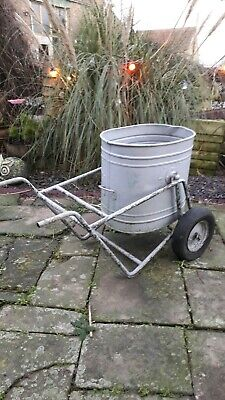 Vintage Water Carrier Barrow & Tub - Old Galvanised - Architectural Antique