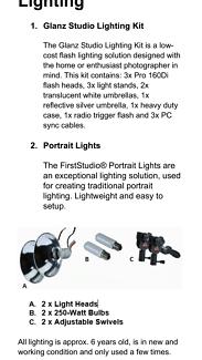 Photography Lighting Set
