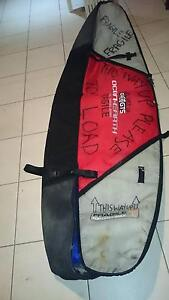 8ft PADDED TRAVEL SURFBOARD MINI MAL BAG FITS UP TO 3 BOARDS Doonan Noosa Area Preview