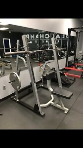 iron man squat rack with upright bench