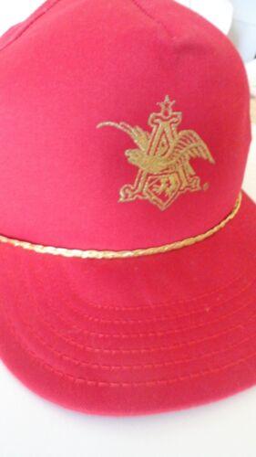 Anheuser Busch Beer Red Gold Hat Cat Budweiser