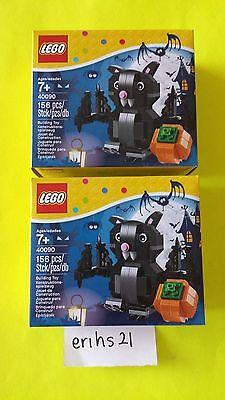 (2) EXCLUSIVE LEGO HALLOWEEN BAT SET # 40090 - NEW SEALED (RETIRED SET)