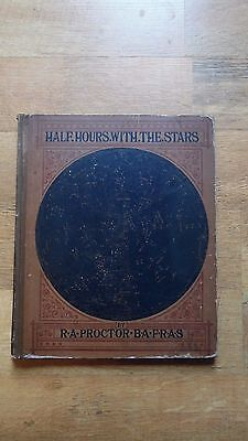 X Rare  1888 Book Half Hours With The Stars Richard Proctor Astronomy Star Chart