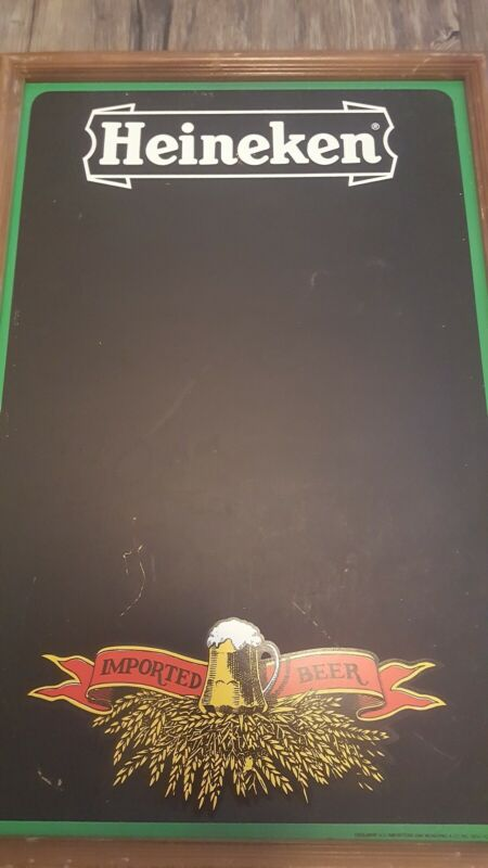 "Heineken Wall Mount Chalkboard for Bar Pub Man Cave Imported Beer 23""H 15""W"